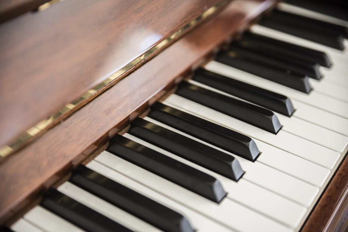 Close Up Shot of Piano Keys
